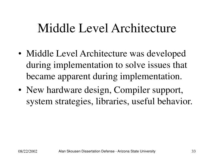 Middle Level Architecture