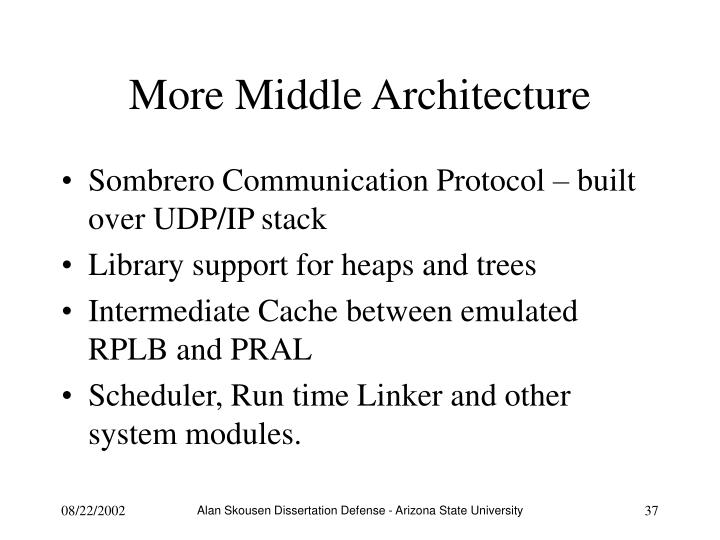 More Middle Architecture