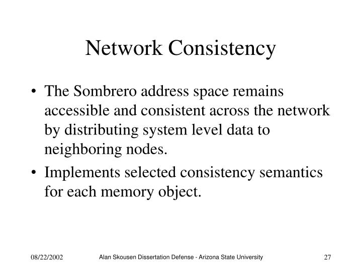 Network Consistency