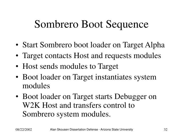 Sombrero Boot Sequence