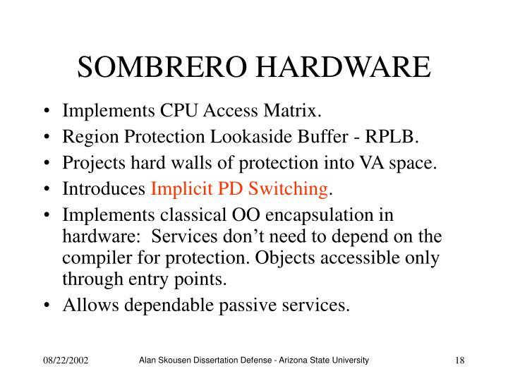 SOMBRERO HARDWARE