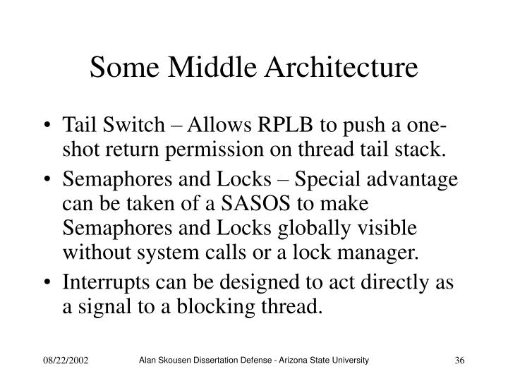 Some Middle Architecture