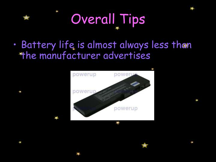 Overall Tips