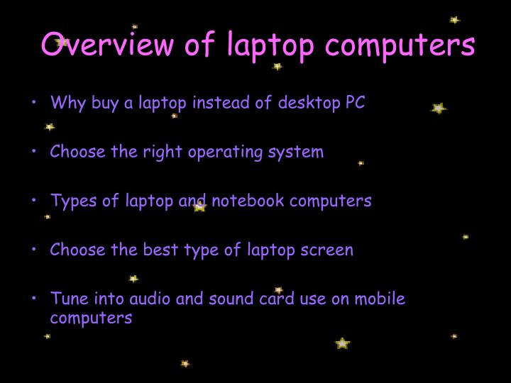 Overview of laptop computers