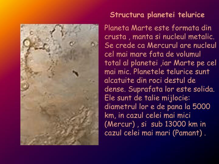 Structura planetei telurice