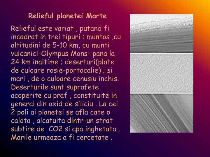 Relieful planetei Marte