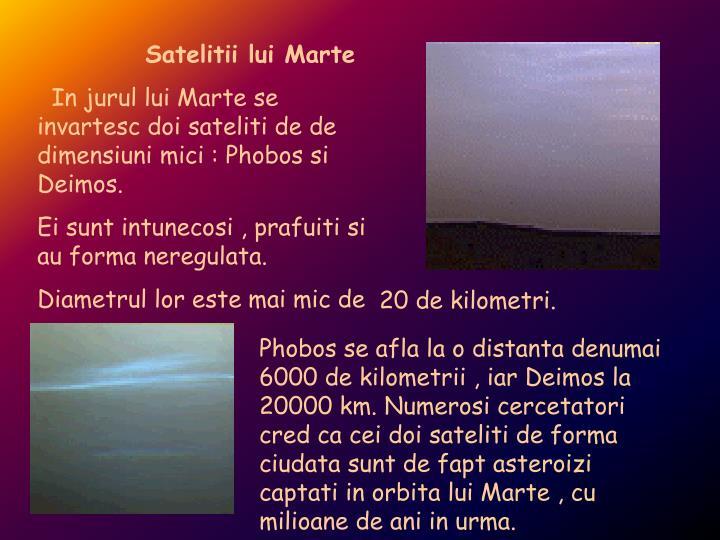 Satelitii lui Marte