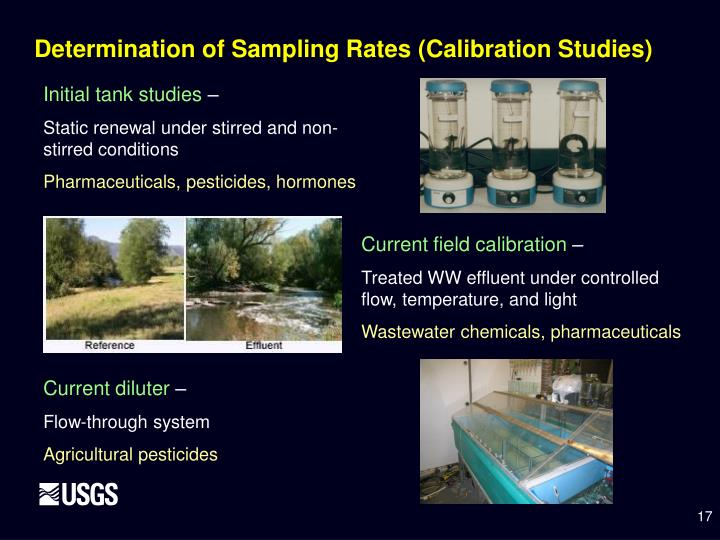 Determination of Sampling Rates (Calibration Studies)