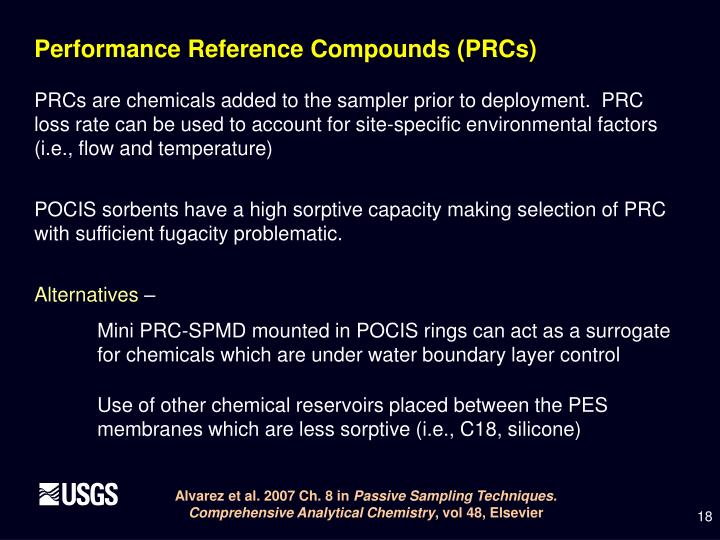 Performance Reference Compounds (PRCs)