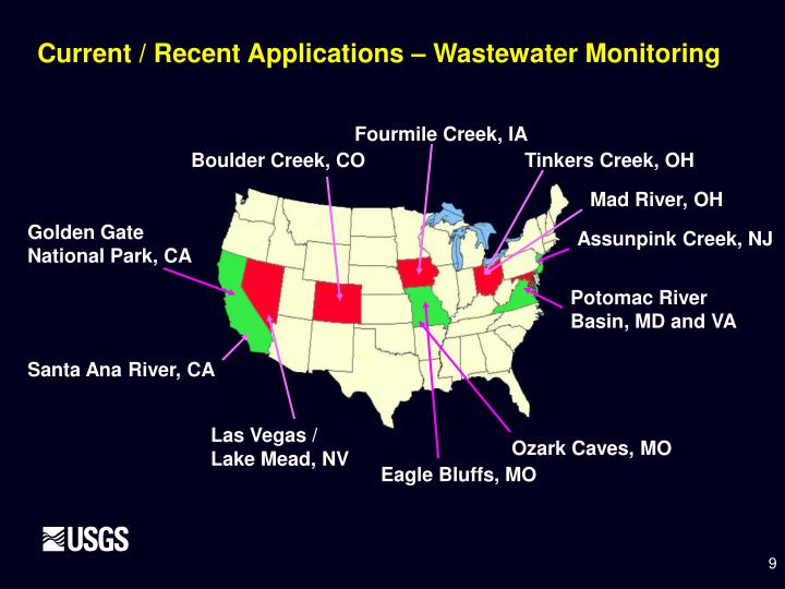 Current / Recent Applications – Wastewater Monitoring