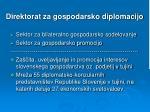 direktorat za gospodarsko diplomacijo