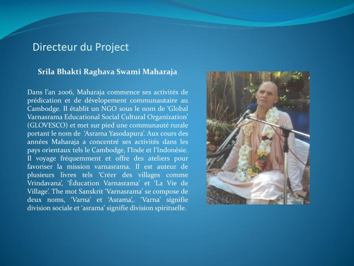 Directeur du Project
