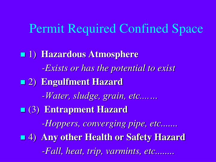 Permit Required Confined Space