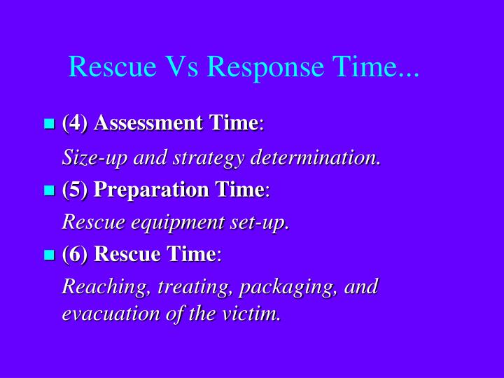 Rescue Vs Response Time...
