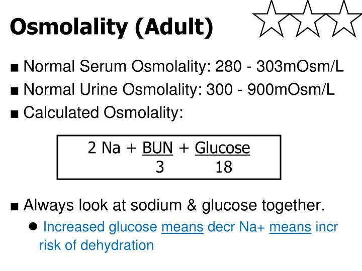 Osmolality (Adult)