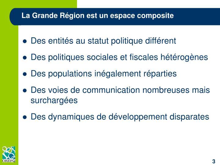 La Grande Région est un espace composite