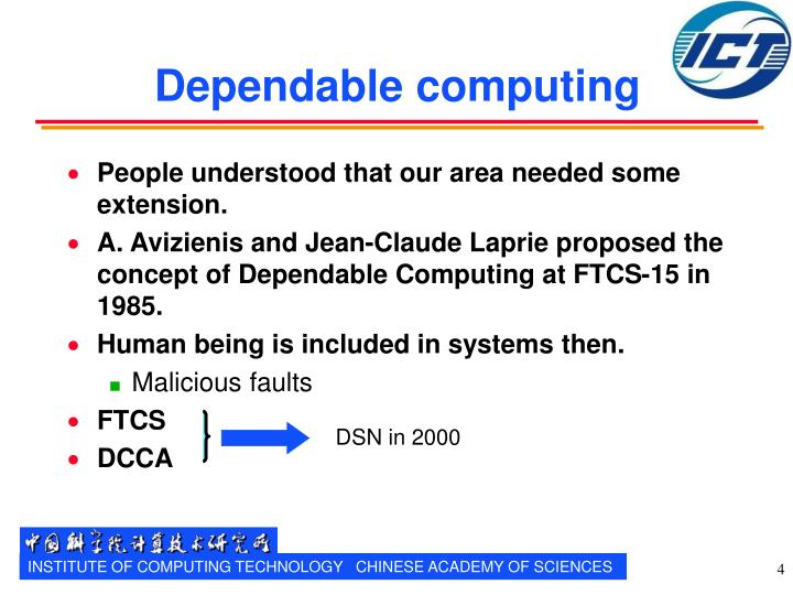 Dependable computing