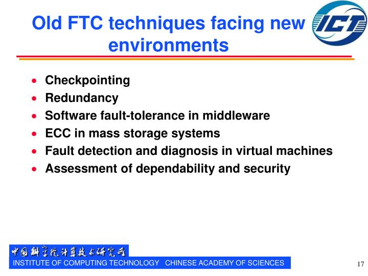 Old FTC techniques facing new environments