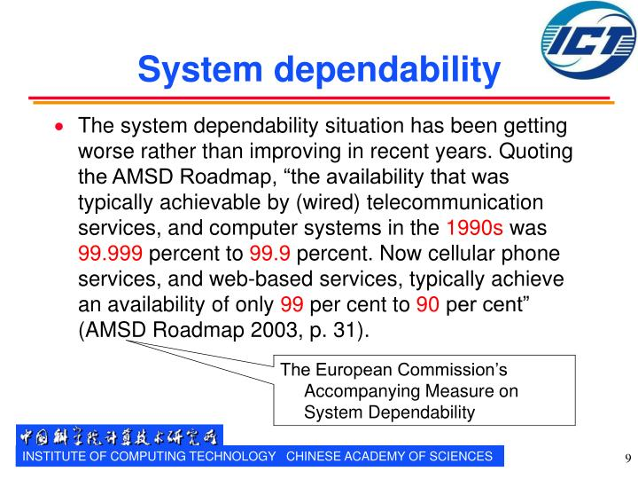 System dependability
