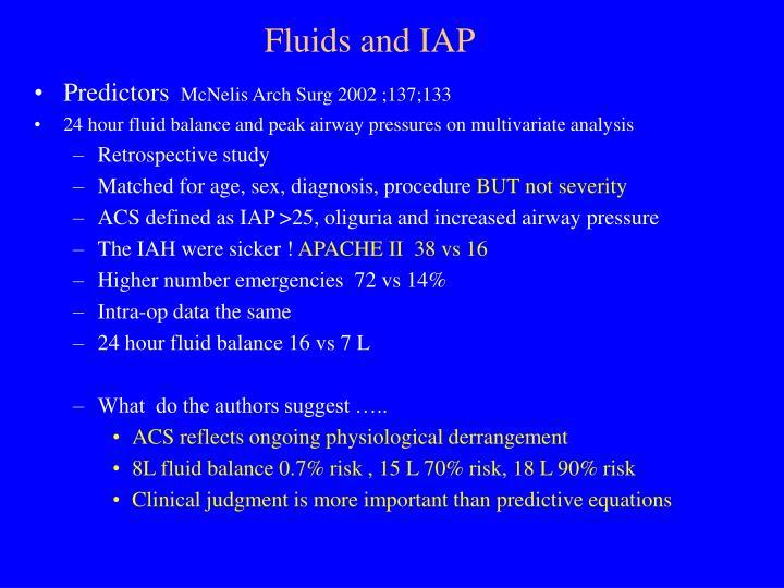 Fluids and IAP