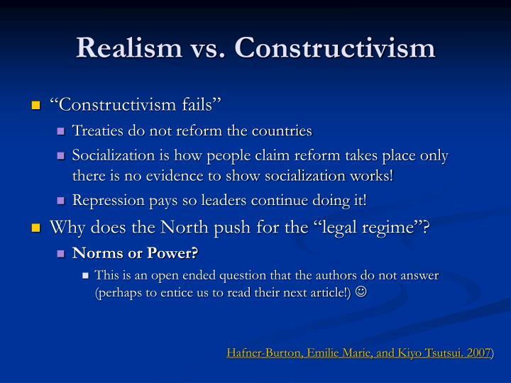 Realism vs. Constructivism