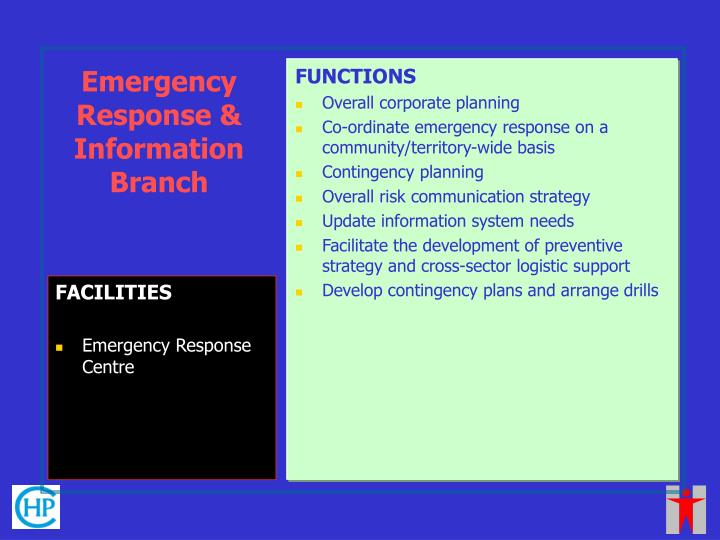 Emergency Response & Information Branch