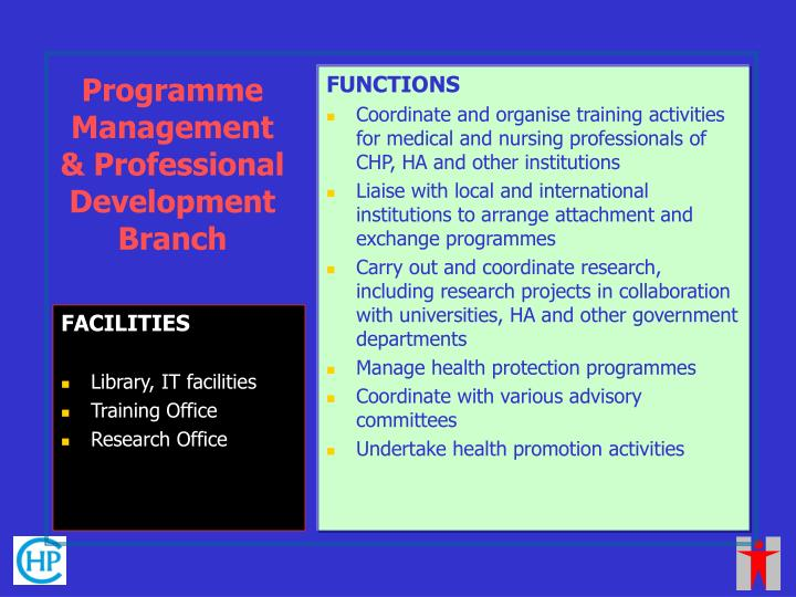 Programme Management & Professional Development Branch