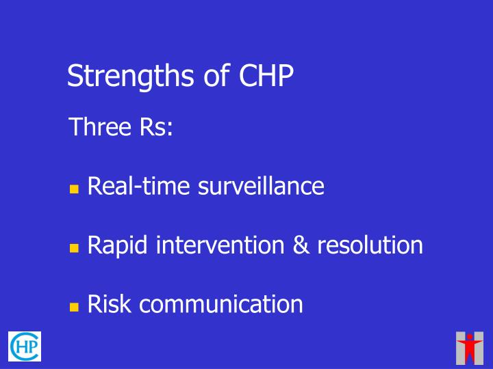 Strengths of CHP