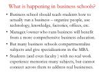 what is happening in business schools