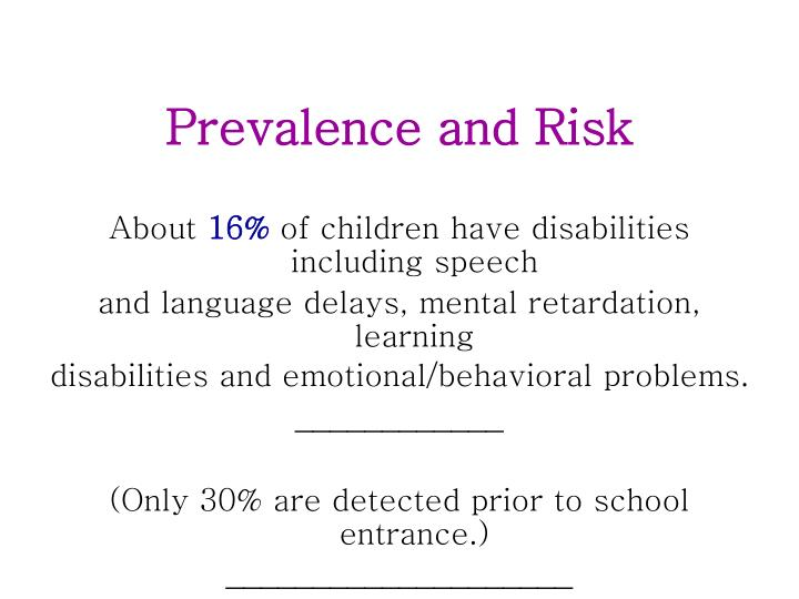 Prevalence and Risk