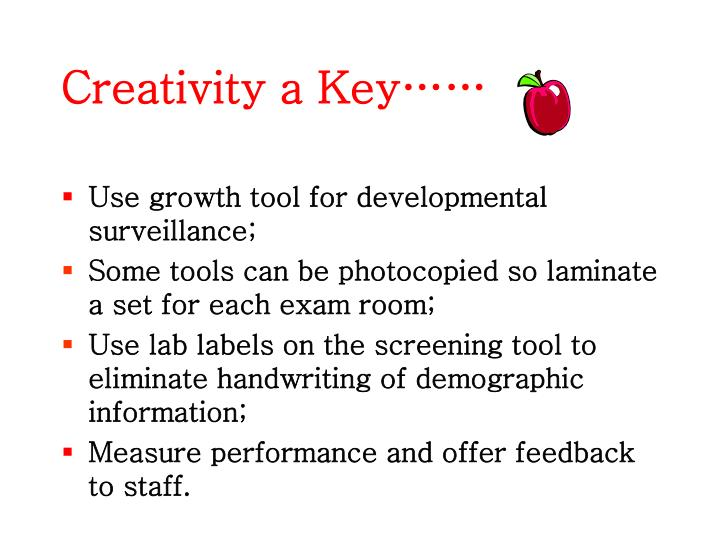 Creativity a Key……