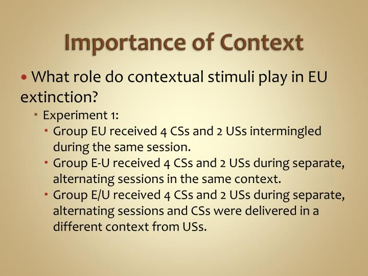 Importance of Context