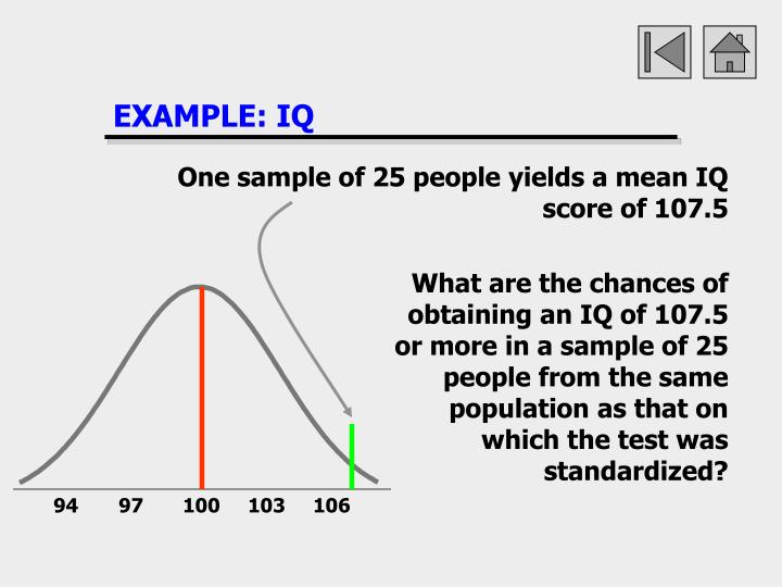 EXAMPLE: IQ
