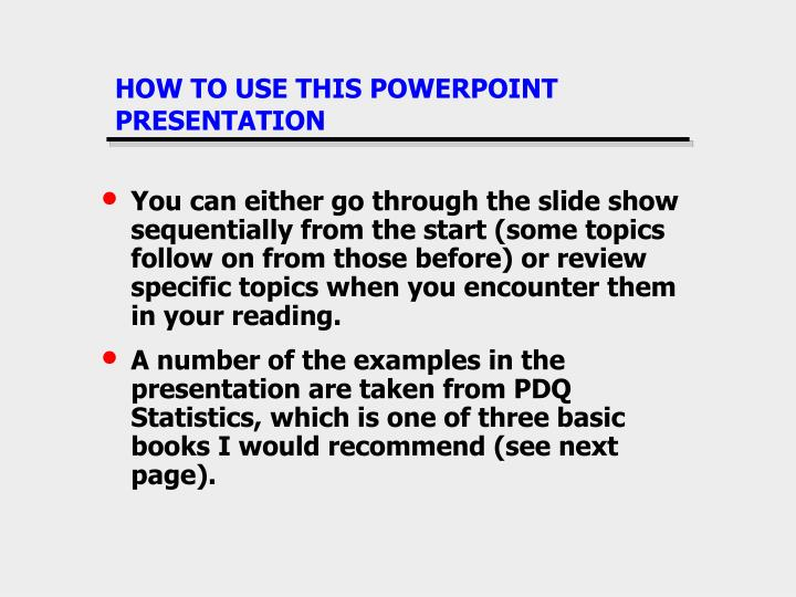How to use this powerpoint presentation1