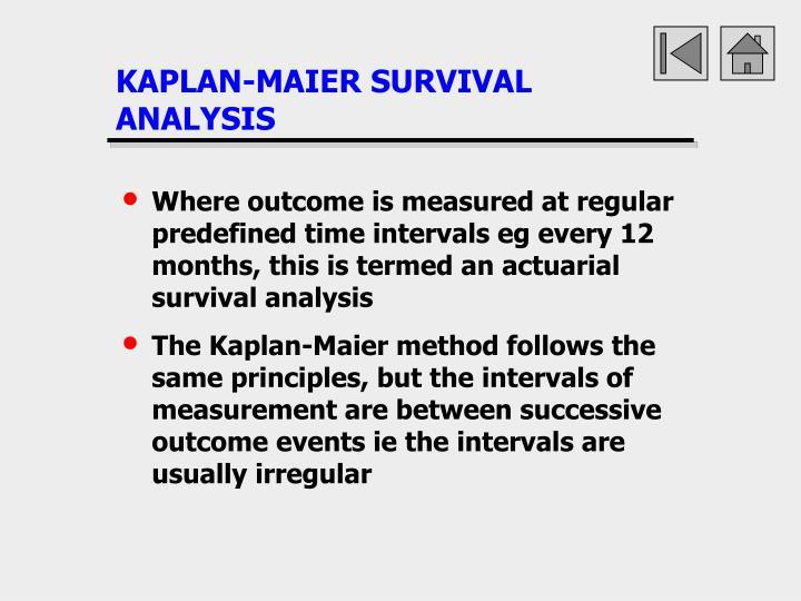 KAPLAN-MAIER SURVIVAL ANALYSIS
