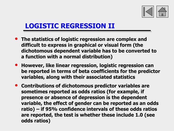 LOGISTIC REGRESSION II