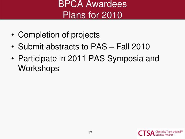 BPCA Awardees