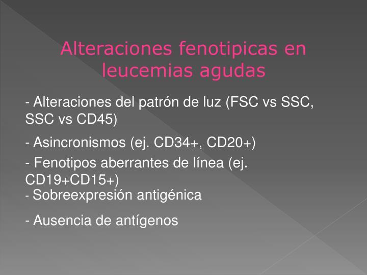 Alteraciones fenotipicas en leucemias agudas