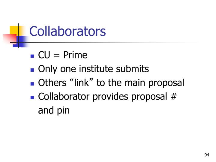 Collaborators