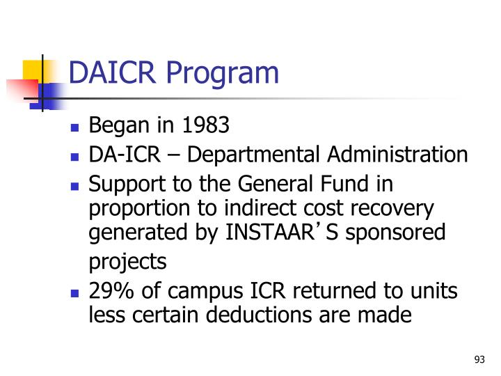 DAICR Program