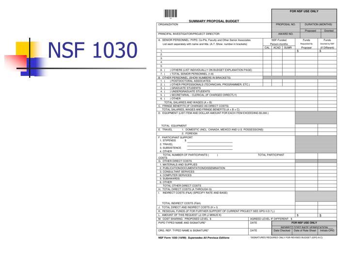 NSF 1030