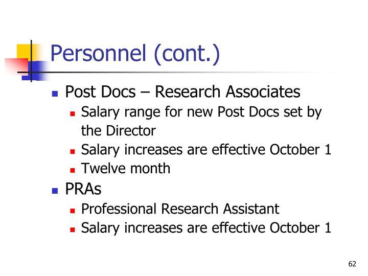 Personnel (cont.)