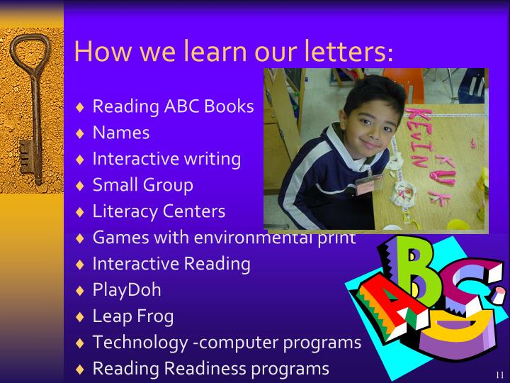 How we learn our letters: