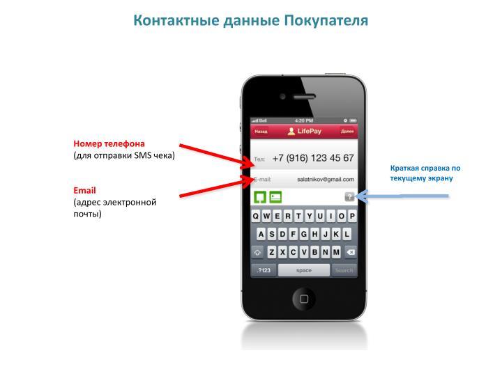 Контактные данные Покупателя
