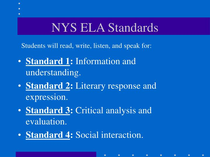 NYS ELA Standards