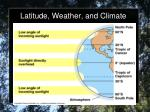 latitude weather and climate