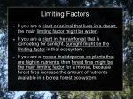 limiting factors1