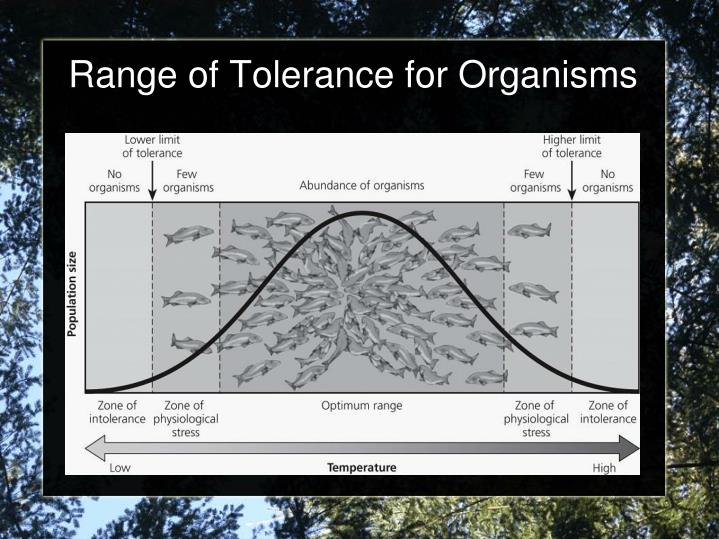 Range of Tolerance for Organisms