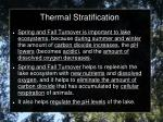 thermal stratification