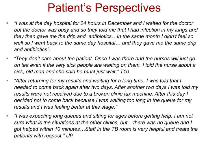 Patient's Perspectives